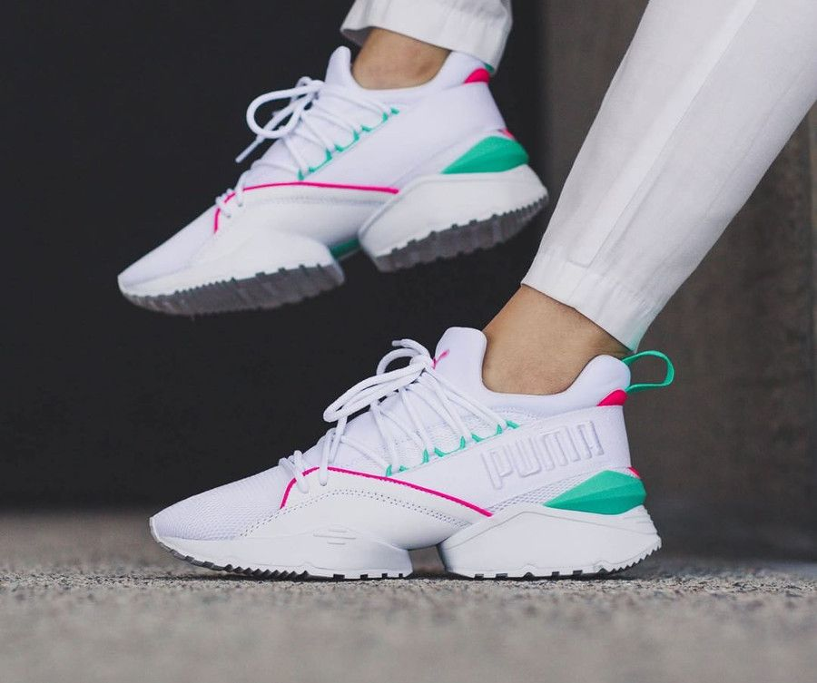 25bbdd7bfe5 Puma Evolution Muse Maia Street 1 'White Knockout Pink' | Puma in ...