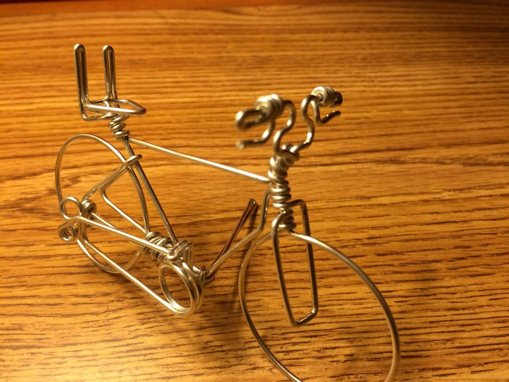 Handmade Creative Bicycle Business Card Holder on Desk | Bicycle ...