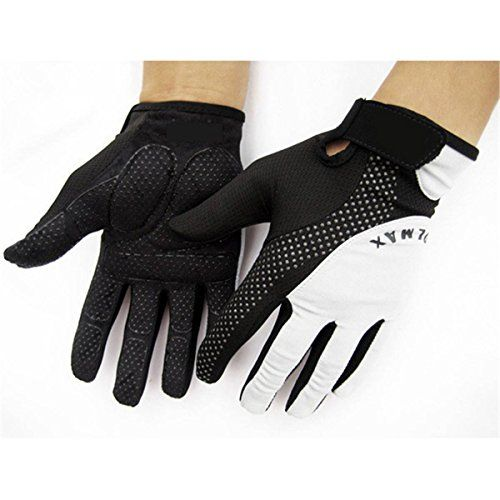 Workout Gloves Full Finger: OUTERDO Full Finger Gloves Cycling Weight Lifting Gym