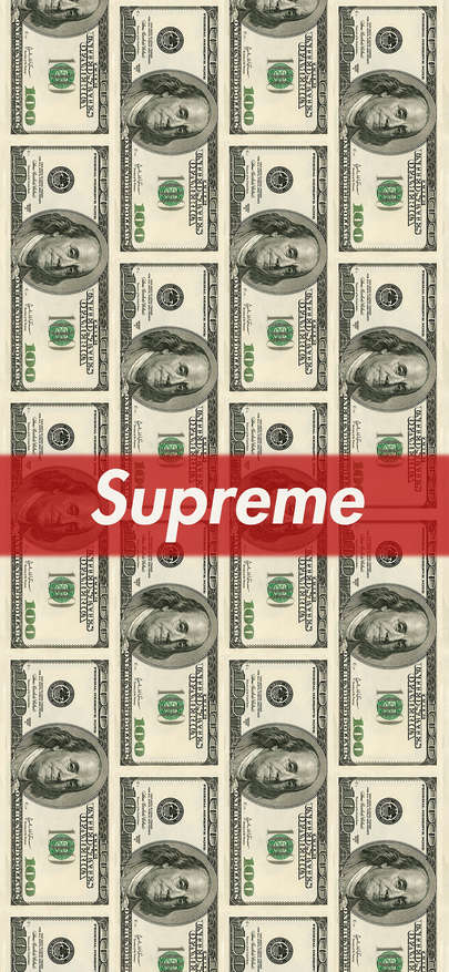 Logo Of Supreme Wet Card Indicates Brand Dollar Money Is Soft Wallpapers For Iphone X Iphone Xs Supreme Iphone Wallpaper Money Wallpaper Iphone Soft Wallpaper