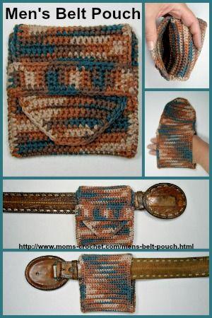 Crochet A Mens Belt Pouch Free Pattern At Moms Crochet