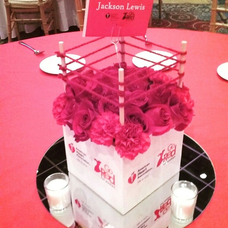 Boxing Ring Centerpieces #GoRed
