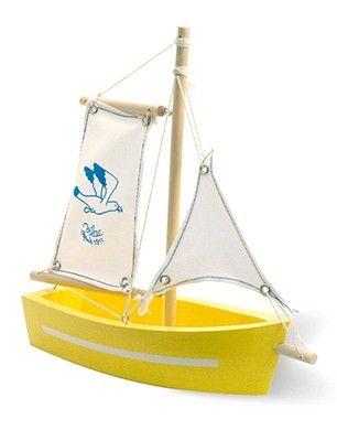 Vilac Yellow Sailing Boat Sailboat Sailing Boat