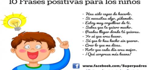 10 Frases Positivas Para Niños Portada Organizador