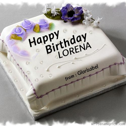 writenamepics Cake for husband, Birthday cake for
