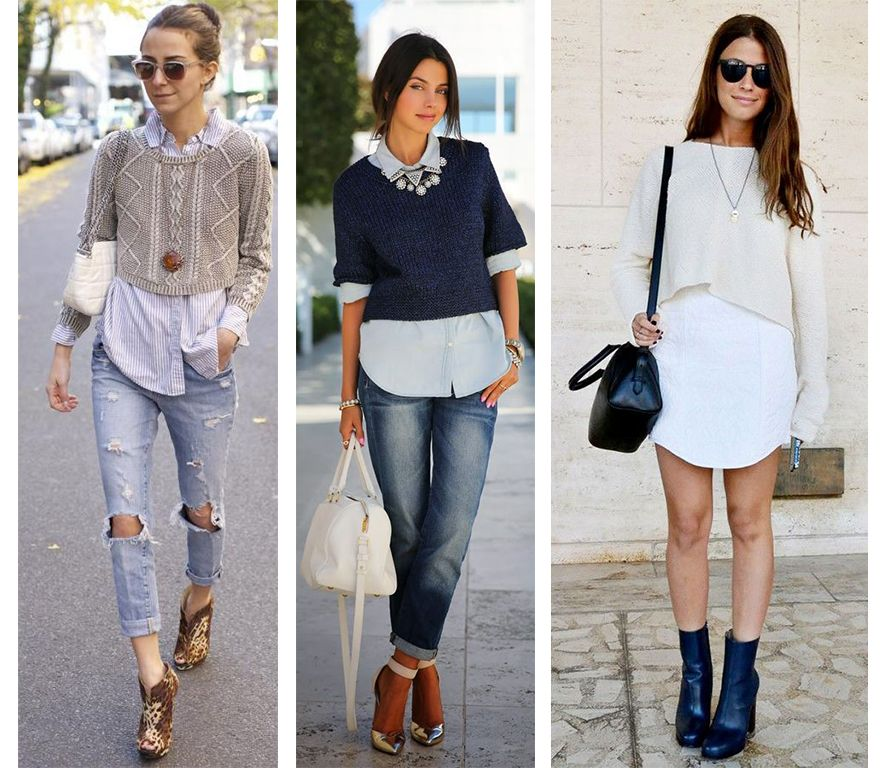 how to wear cropped sweater - Google Search | Personal Style ...