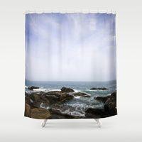 Shower Curtains featuring Acadia View - Ocean Scene  by Jean Ladzinski