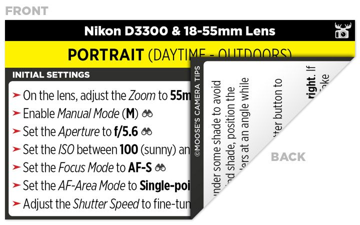 Sample Nikon D Cheat Sheet  Worth A Thousand Words