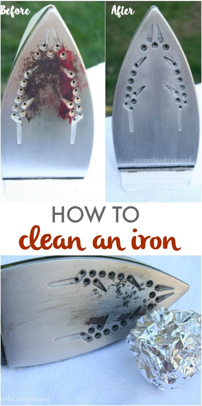 How to Clean an Iron with aluminum foil. via @pinnedandrepinn