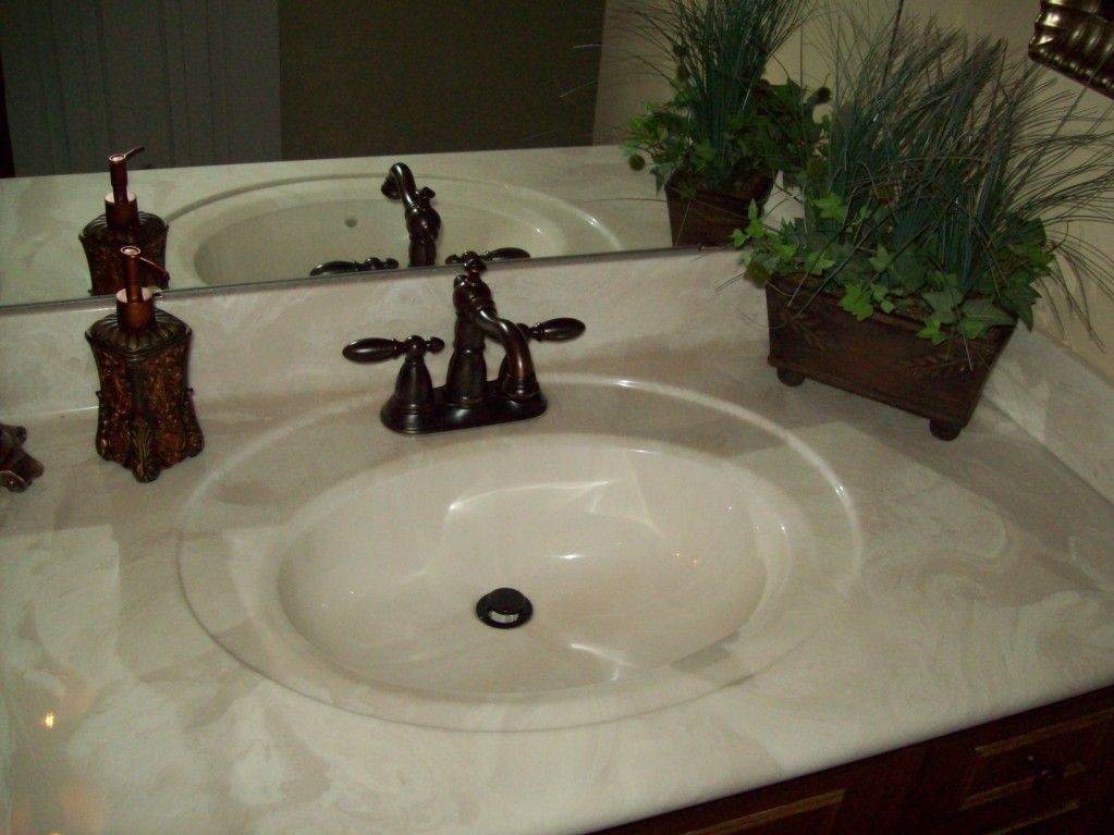 Cultured Marble Vanity Tops | one-piece cultured marble vanity top by  Capital Marble Creations