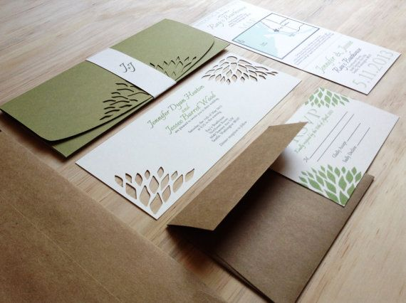 Simple Elegance Wedding Invitation - Handmade Wedding Invitation ...