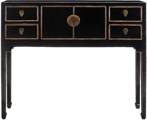 d169fb3da7130 Small Chinese Console Table in Black by The Nine Schools £295 for this well  made unit with properly made drawers. 100x 80x26D