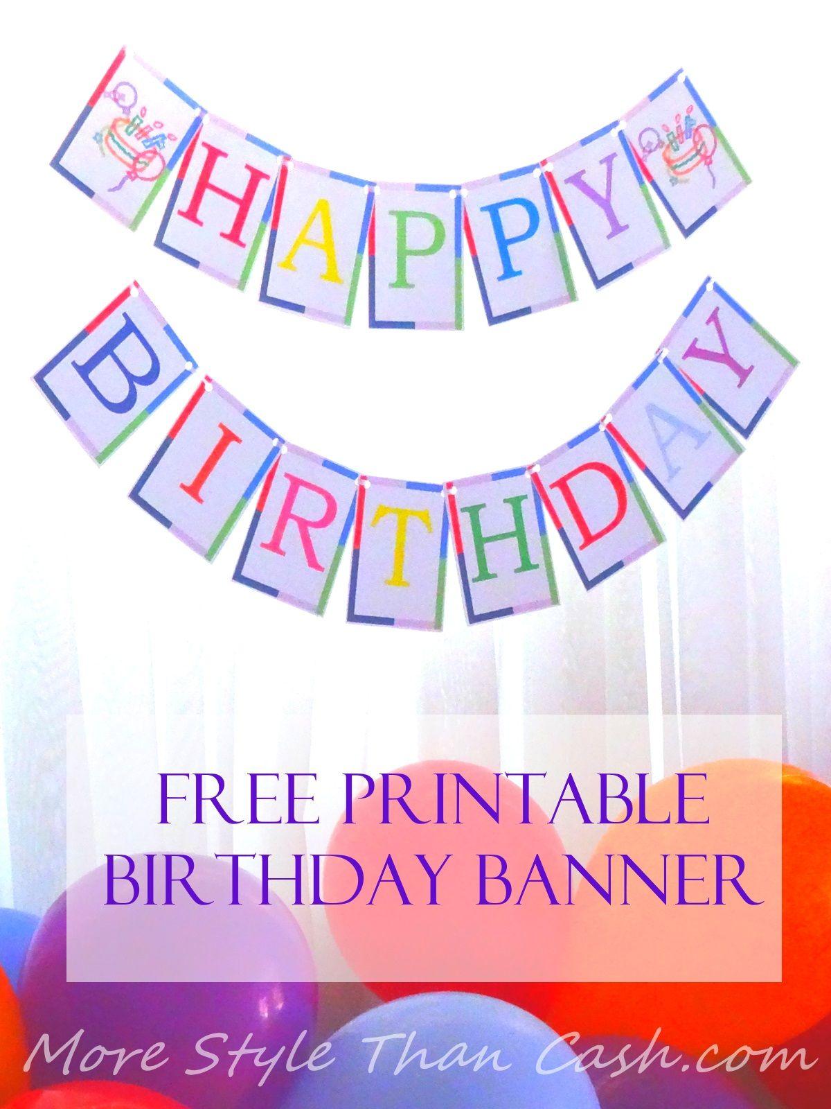 Free printable birthday banner happy birthday banner