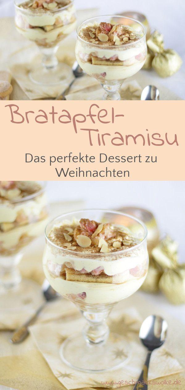 Bratapfel-Tiramisu - Das perfekte Dessert zu Weihnachten #easysimpledesserts
