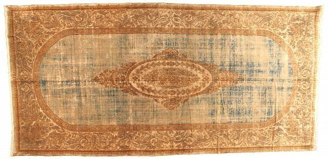 "Persian: Floral 20' 6"" x 10' 0"" Kerman at Persian Gallery New York - Antique Decorative Carpets & Period Tapestries"