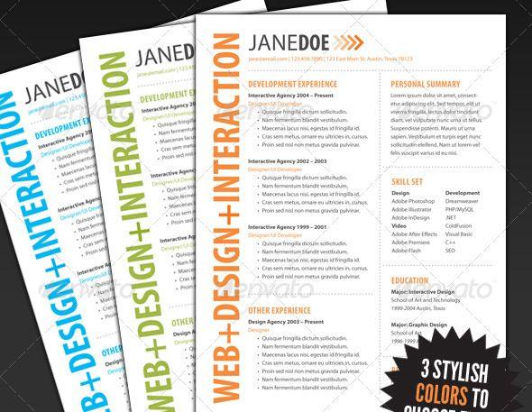 curriculum vitae creativo Curriculums Pinterest - interactive resume template