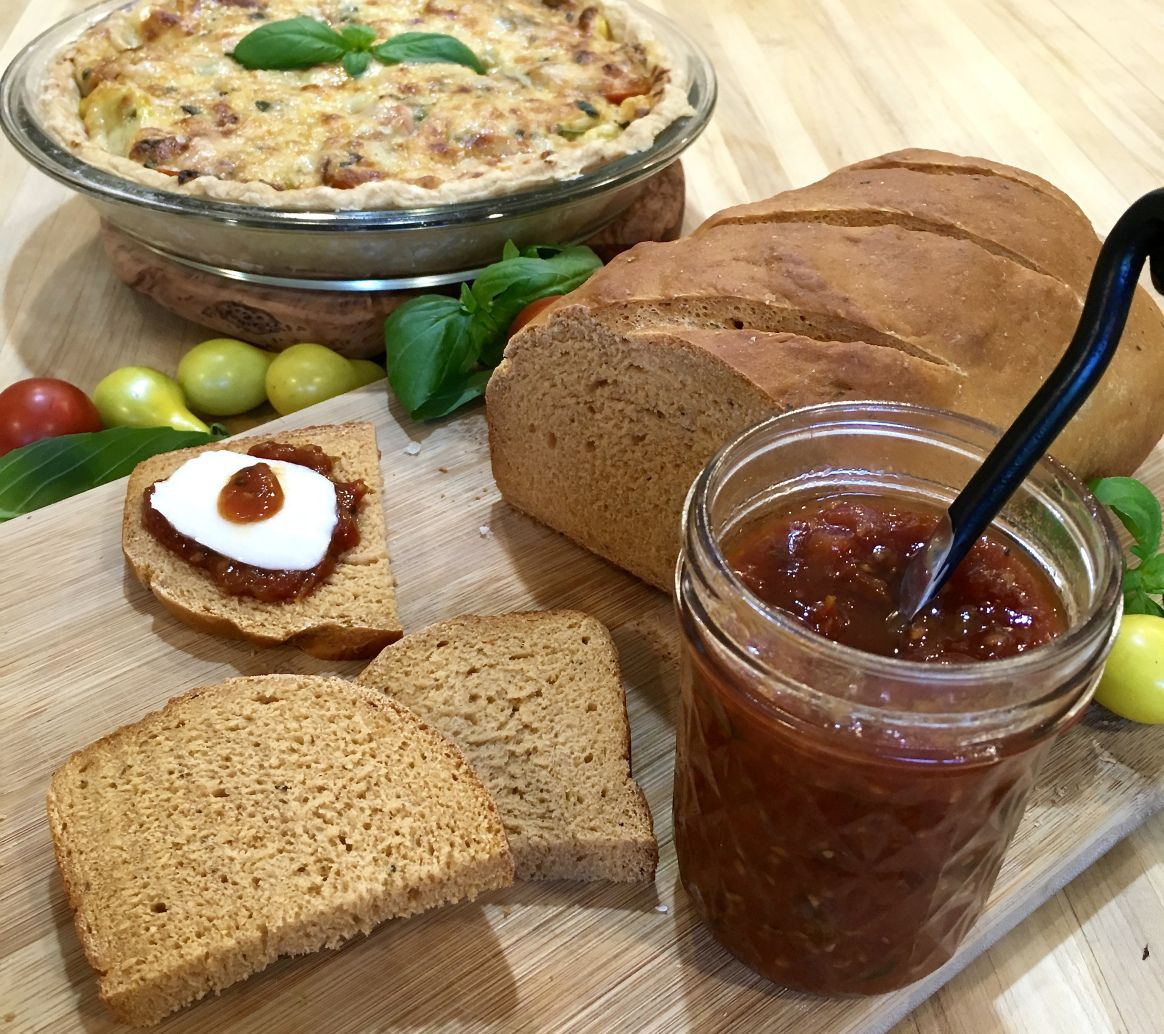 Fantastic tomato bread pie and jam good grief cook