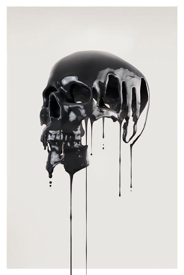 Calavera derretida | Skulls | Pinterest | Calaveras, Calaveras ...