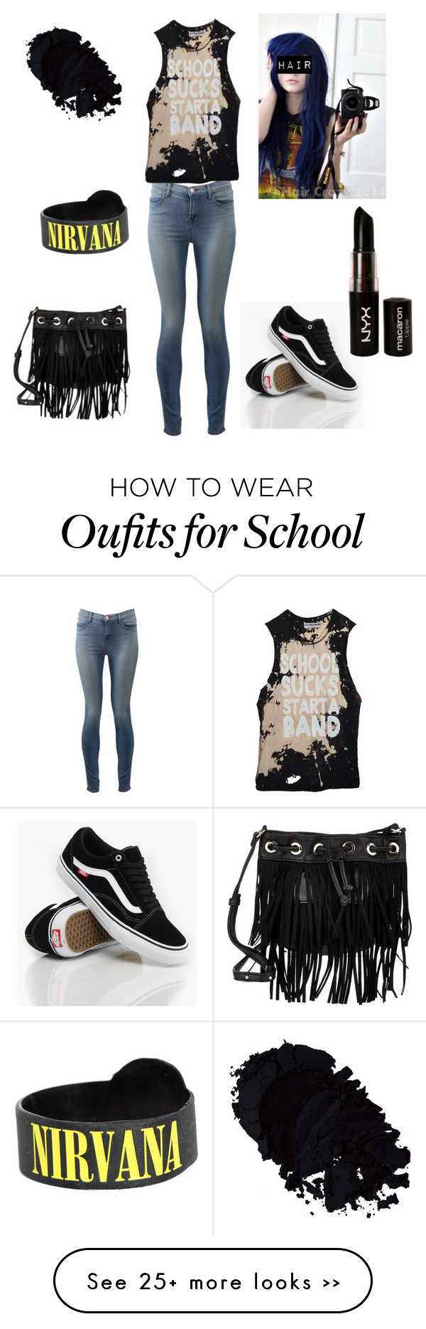 """""""School sucks start a band✌️"""" by musicislife166 on Polyvore"""