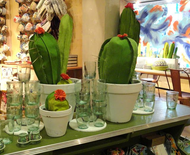 danger garden: fabric cactus at Anthropologie