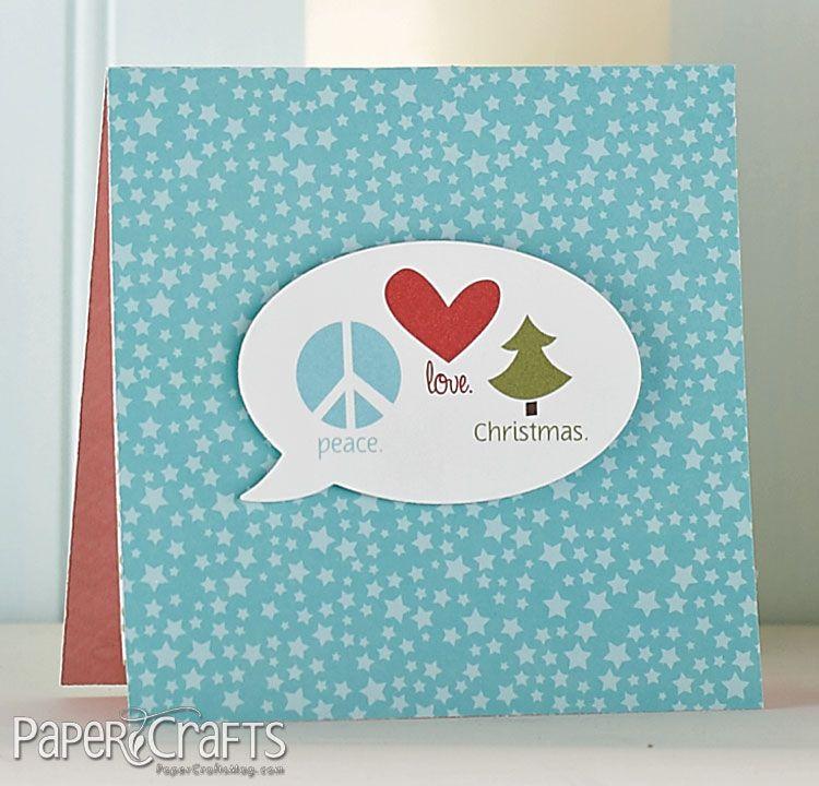 Peace, Love, Christmas Card By @Beth Opel