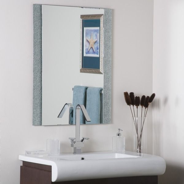 Dune Frameless Wall Mirror   Overstock™ Shopping   Big Discounts On Bath  Fixtures