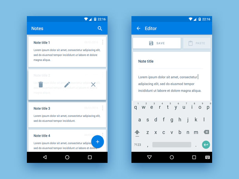 Android Notes App | Mobile UI Examples | Android notes, App