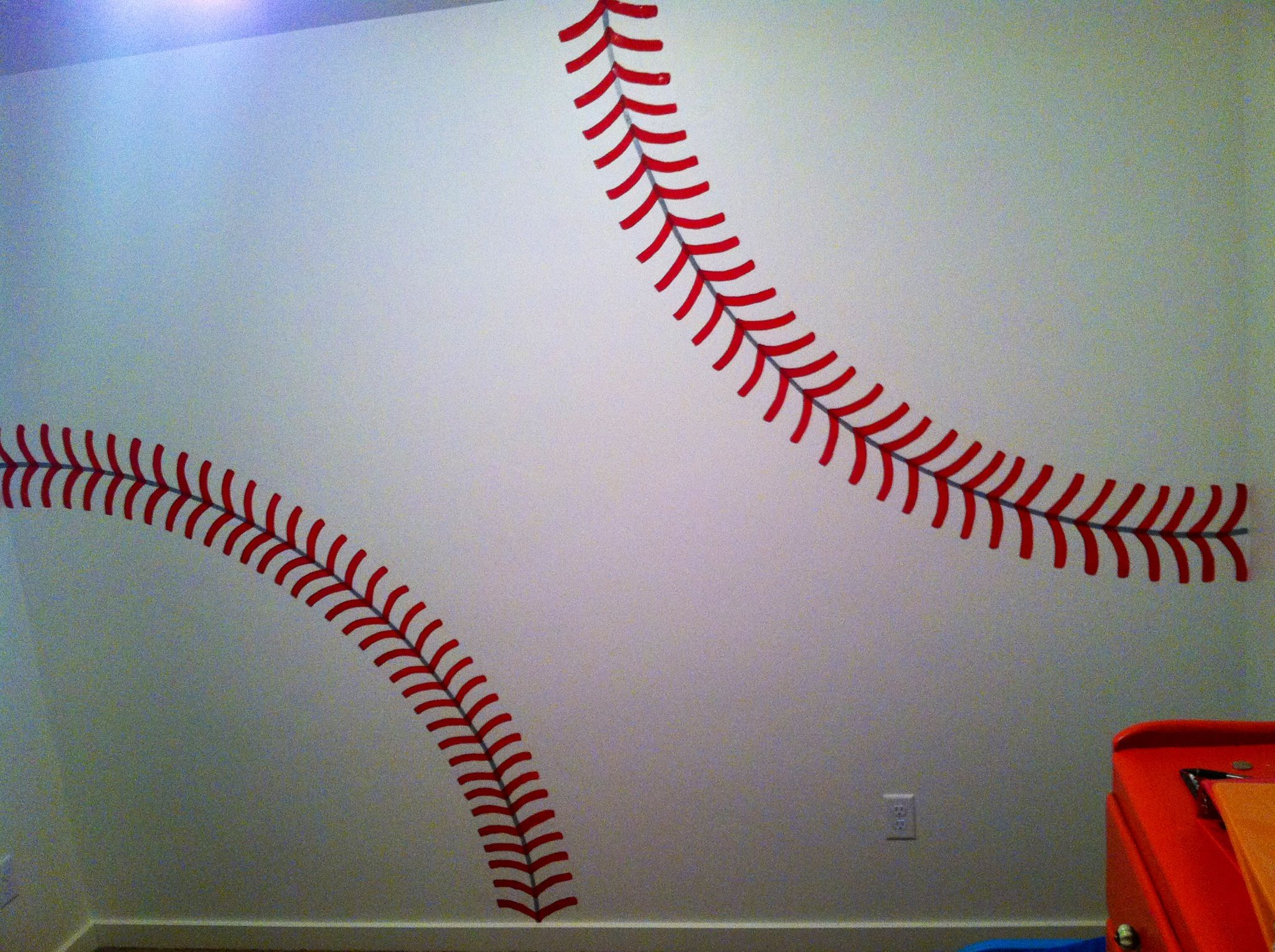 Baseball Wall For Kids Room