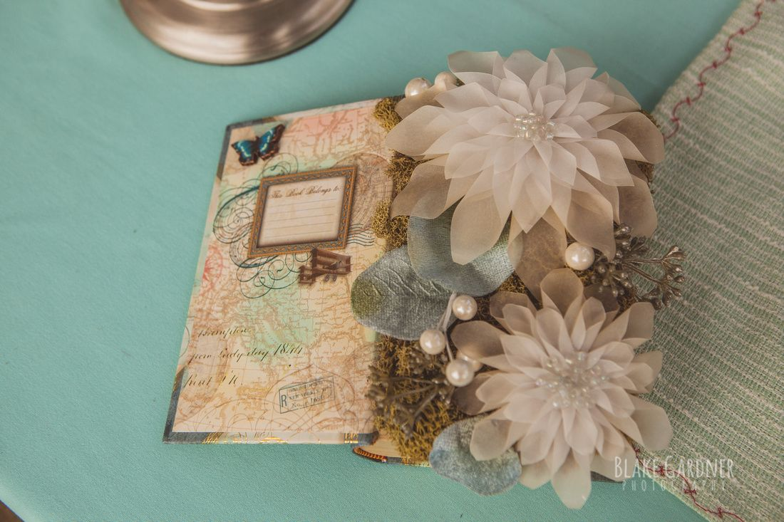 Attractive vellum paper flowers vignette wedding and flowers vellum paper flowers in a book blake gardner photography vintage mightylinksfo