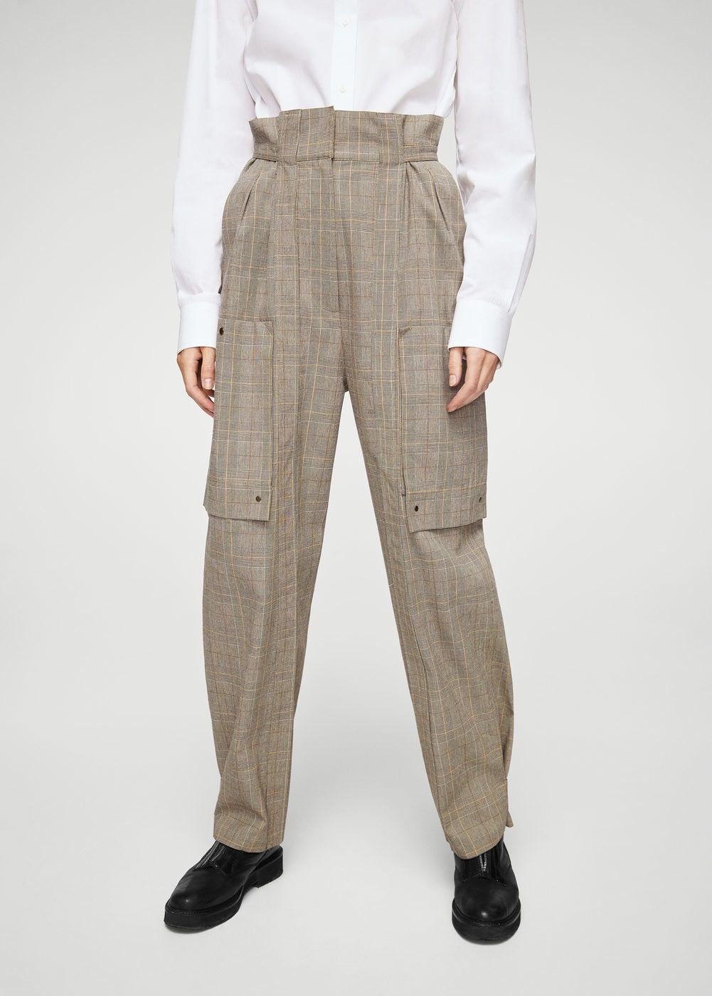 Pantalon cargo à carreaux - Femme  651ade3f5ad