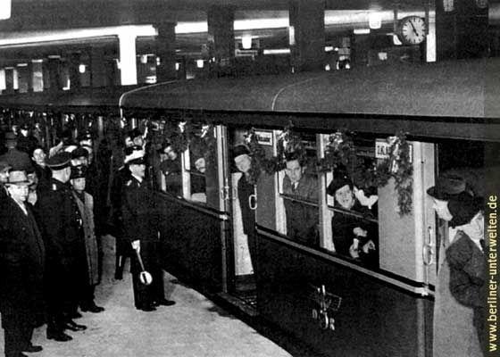 Feierliche Inbetriebnahme Bahnhof Potsdamer Platz am15.April 1939