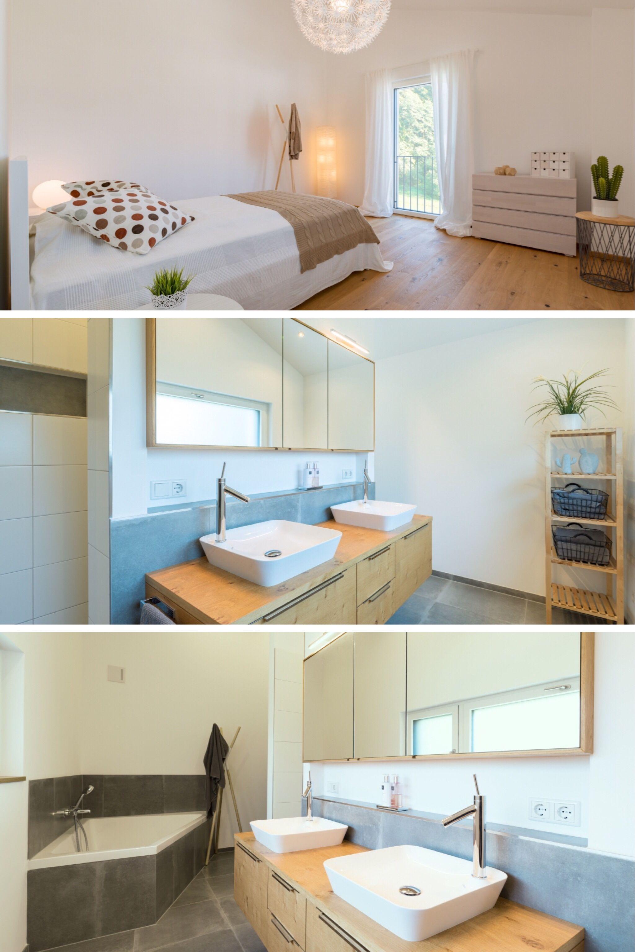Einrichtung Ideen Schlafzimmer und Bad - Wohnen mit warmen ...