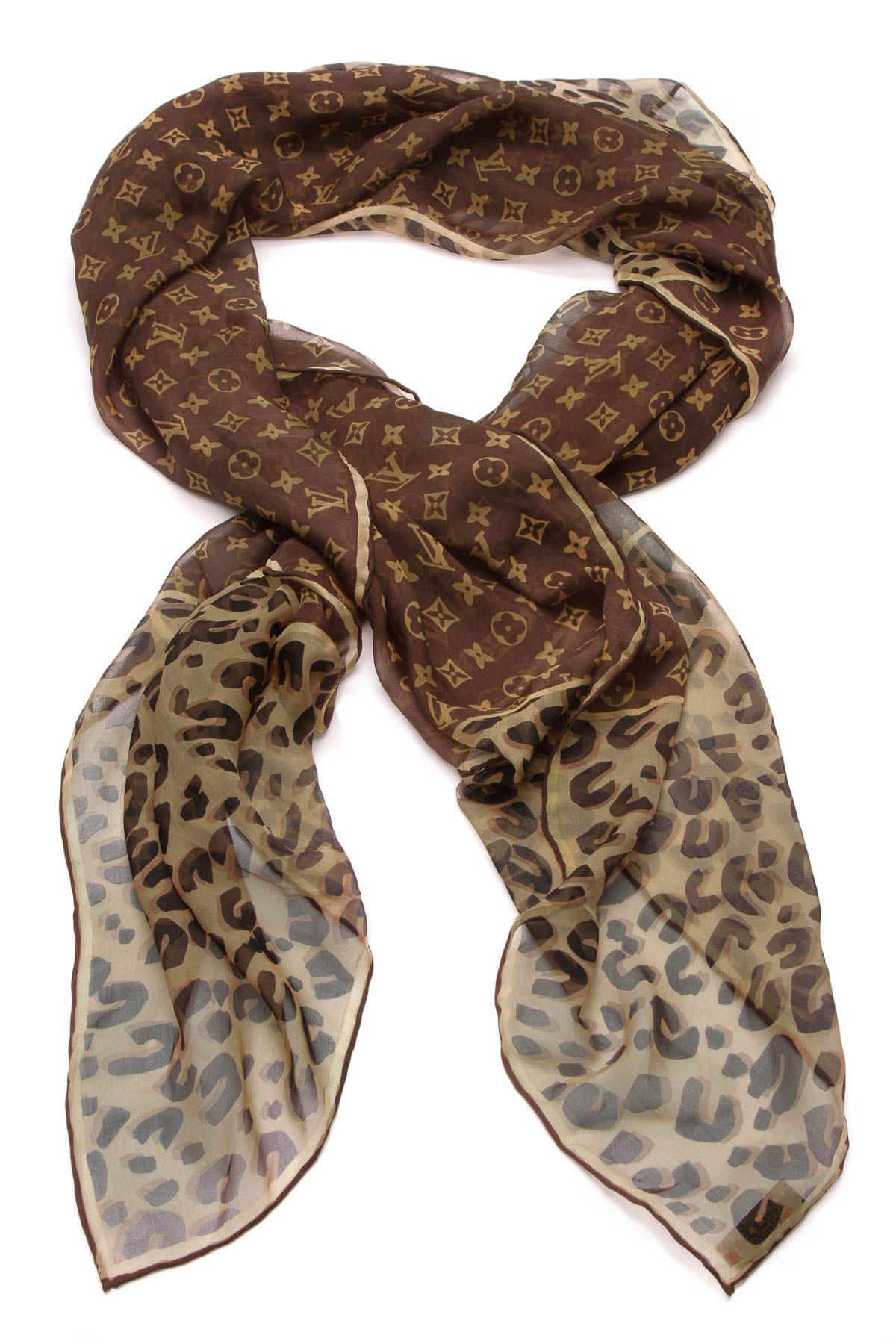 6a6c41eca57 Stephen Sprouse Monogram Leopard Scarf - Silk in 2019