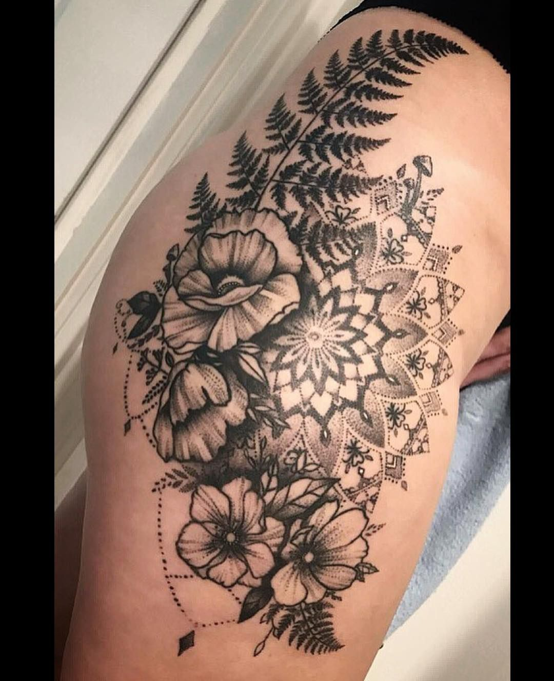 50 Of The Most Beautiful Mandala Tattoo Designs For Your Body Soul Floral Mandala Tattoo Mandala Tattoo Design Mandala Hip Tattoo
