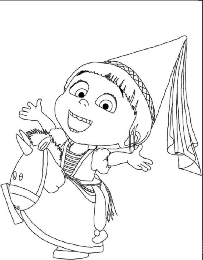 agnes from despicable me 2 coloring pages coloring pages