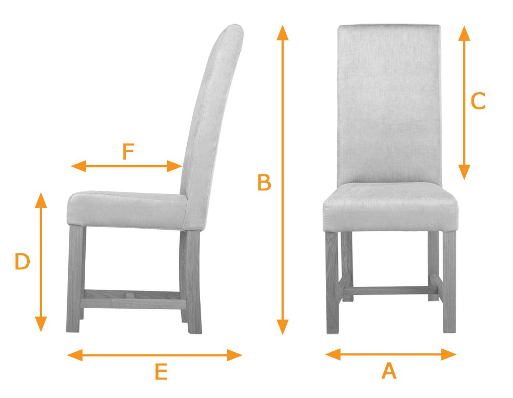 Kensington Dining Chairs With Chunky Oak Legs In Light Blue