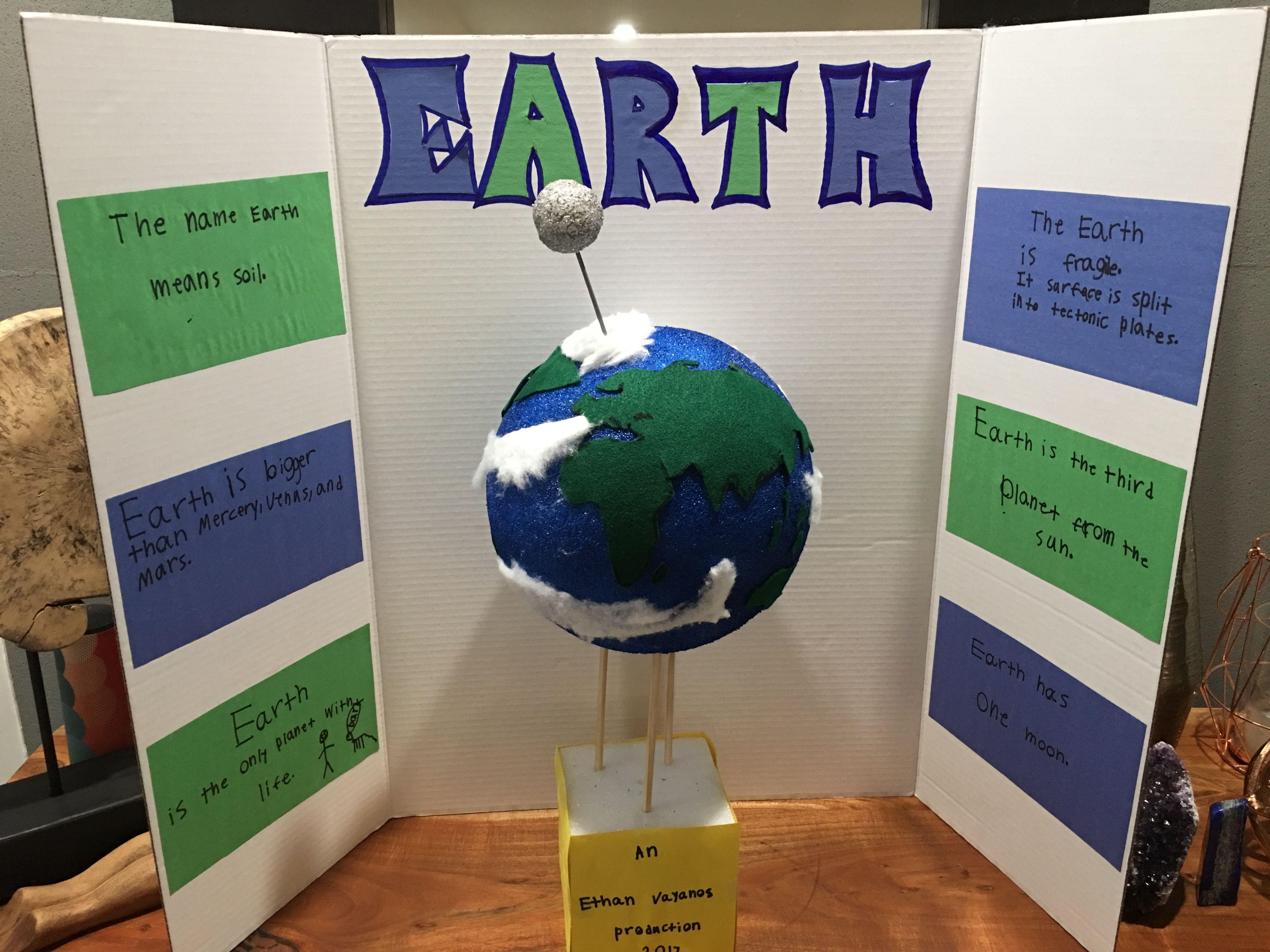 planet earth 1st grade school project [ 4032 x 3024 Pixel ]
