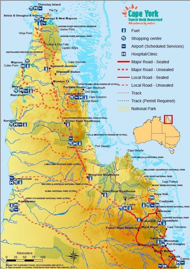 Map Of Australia Cape York Peninsula.Exploring Cape York Peninsula Part 1 Travel Australian Road