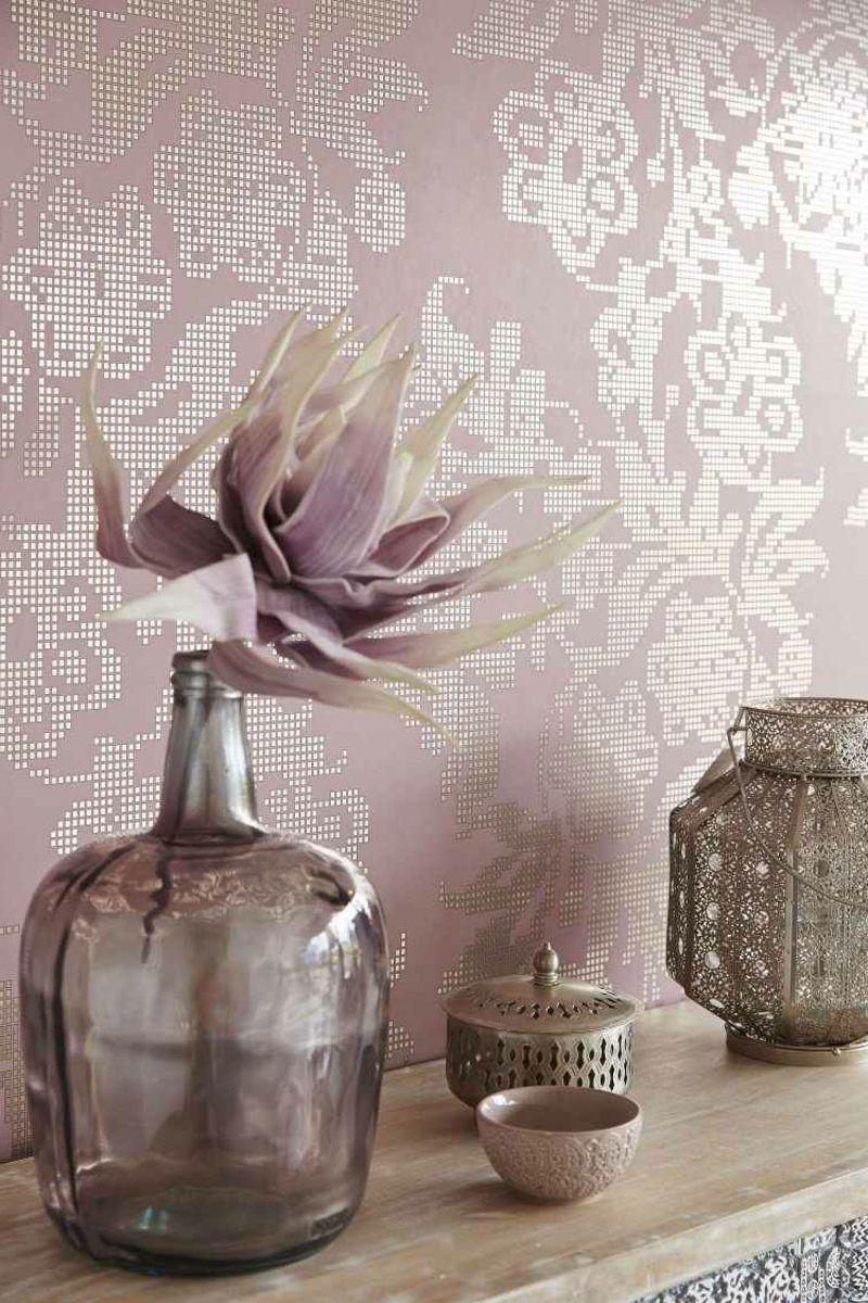 Moderne Stofftapeten Farbe Altrosa Deko Ideen Decoration