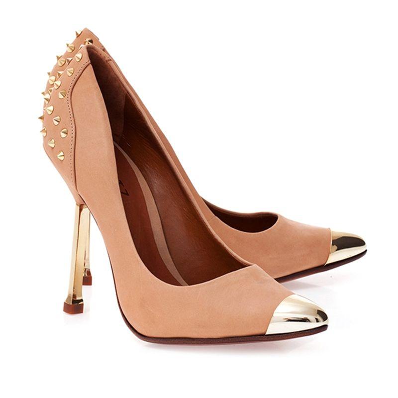 70fd2c233 SCARPIN GLAM SPIKES - Schutz | Shoes em 2019 | Womens shoes wedges ...