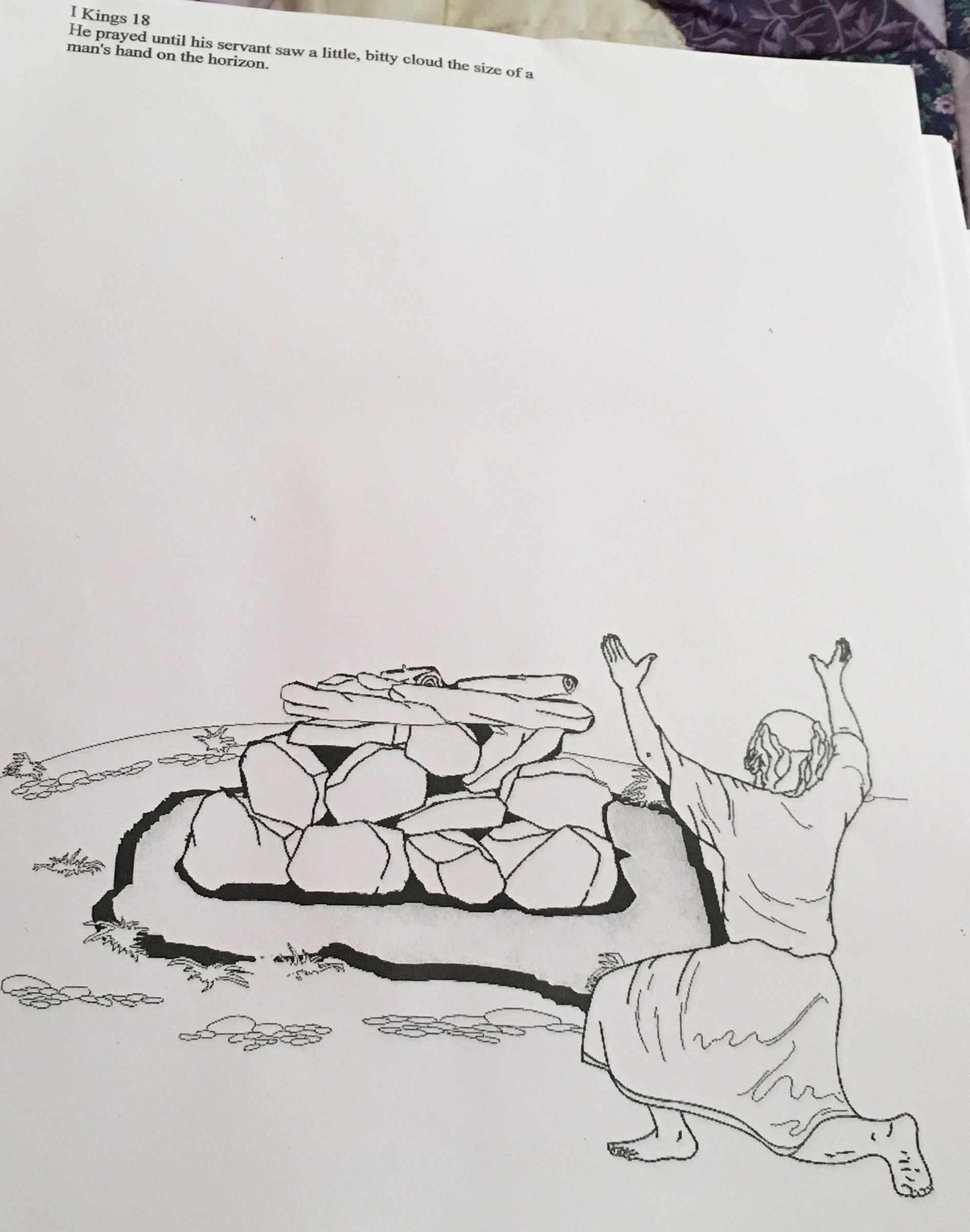 Lesson Elijah On Mount Carmel Bible Story Crafts Sketches