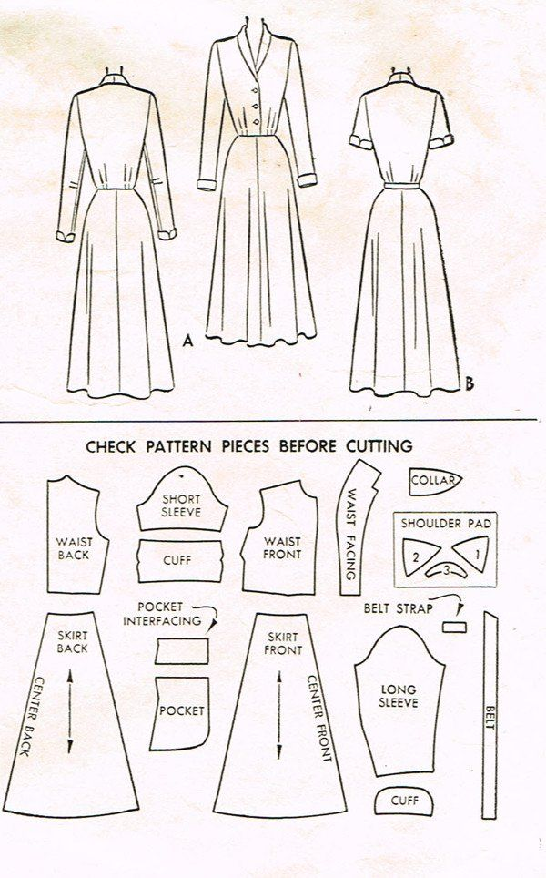 1950s Vintage McCalls Sewing Pattern 8321 Misses Shirtwaist Dress ...