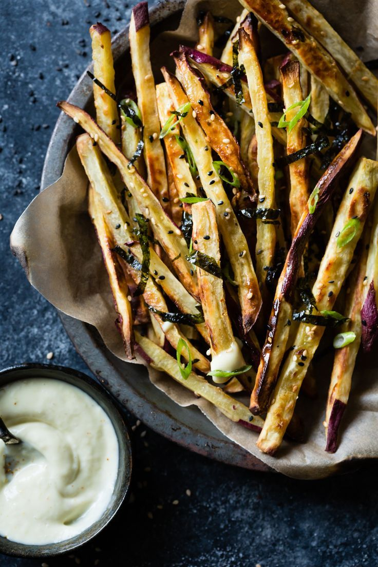 Japanese sweet potato oven fries with wasabi aioli appetizers finger food recipes japanese sweet potato oven fries with wasabi aioli forumfinder Choice Image