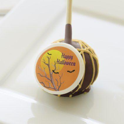 Happy Halloween Bats And The Moon Cake Pops | Zazzle.com #mooncake