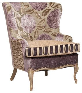 Lilac And Taupe French Chair Traditional Furniture