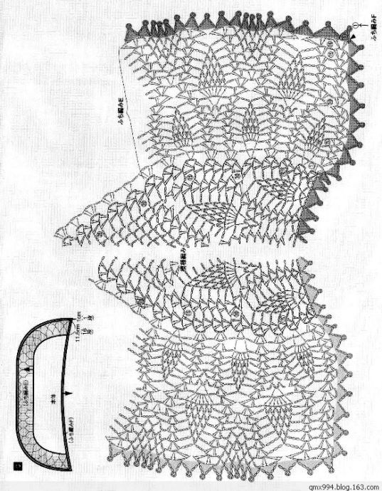 143 free diagrams for crochet pineapple stitches