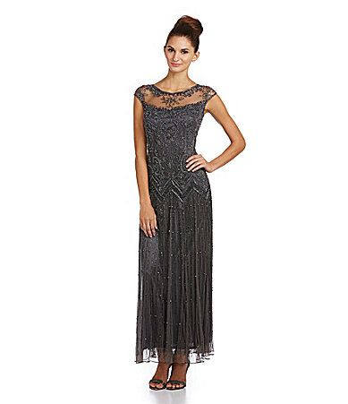 Pisarro Nights Beaded Illusion Gown | Madres, Ilusiones y Dillard\'s