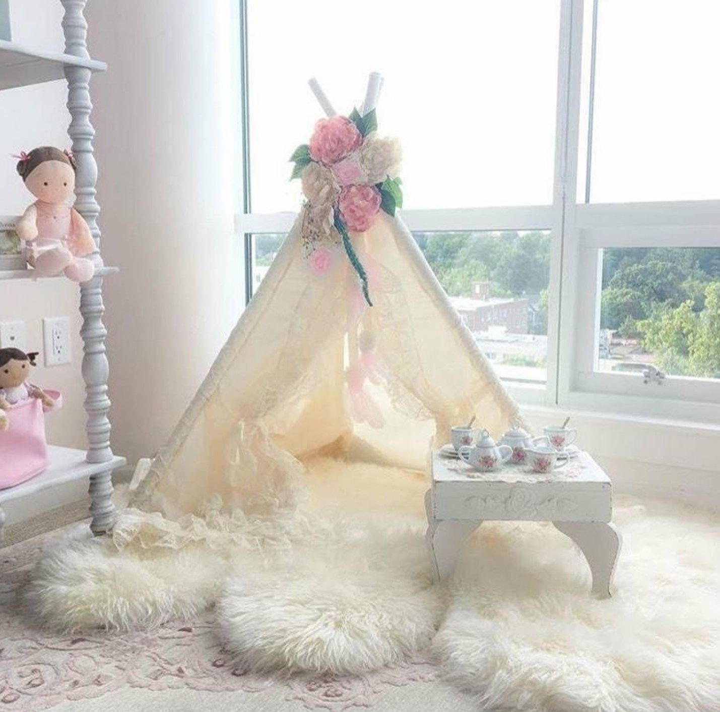 teepee teepee with lace teepee tent toddler teepee teepee with flowers - BABY BIANCA COMBO & teepee teepee with lace teepee tent toddler teepee teepee with ...