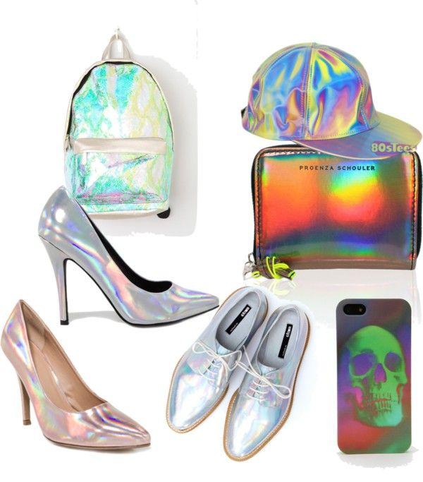 """Hologram"" by olivmarbittar on Polyvore"
