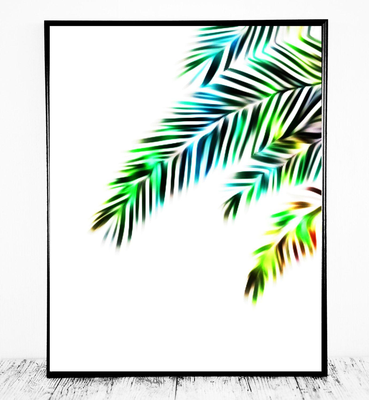 Colorful Palm Print, Palm Colorful Print, Tropical Decor